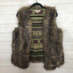 Faux fur vest Jacket target Mossimo Large L